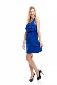 7153722-blue-dress-girl